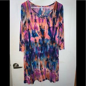 Paisley Grace Size XL tie-dye Tunic Dress